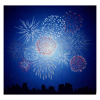 "Hoffman Digital Supernova Seasons Fireworks 43""Panel Americana"