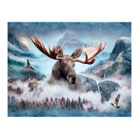 "Hoffman Digital Call Of The Wild Moose 33""Panel Waterfall"