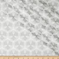 Hoffman Sparkle & Fade Geo Floral Metallic White/Silver