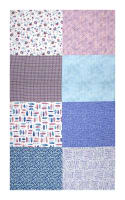 "Hoffman Digital All A Twitter Fat Quarter Multi Print 72""Panel Sweetpea"