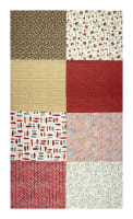"Hoffman Digital All A Twitter Fat Quarter Multi Print 72""Panel Carnation"