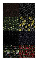 "Hoffman Digital No Weeds Here Fat Quarter Multi Print 72""Panel Black"