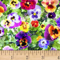 Hoffman Digital All Purpose Flowers Pansies Leaf