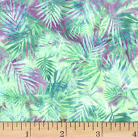 Hoffman Bali Batik Palm Leaves Seaside