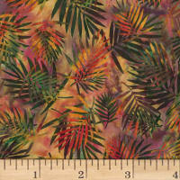 Hoffman Bali Batik Palm Leaves Bohemian