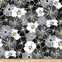 Kanvas Lemon Twist Packed Poppies Gray/Yellow