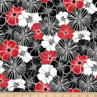 Kanvas Cherry Twist Packed Poppies Cherry