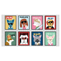 "Puparazzi Pups Magazine Covers 24"" Panel Multi"