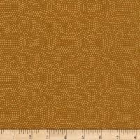 Timeless Treasures Metallic Spin Dot Caramel