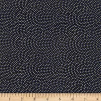 Timeless Treasures Metallic Spin Dot Navy