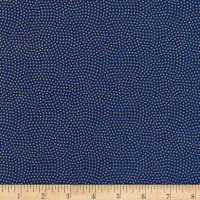 Timeless Treasures Metallic Spin Dot Royal