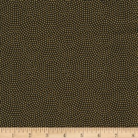Timeless Treasures Metallic Spin Dot Black