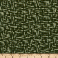 Timeless Treasures Metallic Spin Dot Green