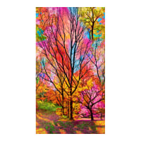"Timeless Treasures Electric Nature Large Scale Forest 23"" Panel Electric"