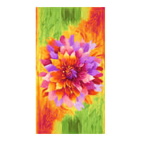 "Timeless Treasures Dream 24"" Flower Panel Bright"