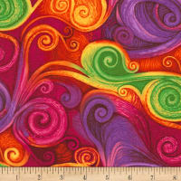 Timeless Treasures Dream Fantasy Swirl Multi