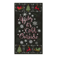 "Timeless Treasures Baby It's Cold Outside Christmas Chalkboard 24"" Panel Black"