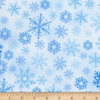 Timeless Treasures North Pole Snowflakes Ice
