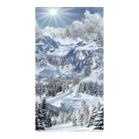 "Timeless Treasures Snowscape 24"" Snowy Mountain Panel Snow"