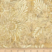 Timeless Treasures Tonga Batik Spa Day Dragon Flower Tan