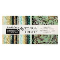 "Timeless Treasures Tonga Batik Treat Spa Day 5"" Square Pack Spa Day"