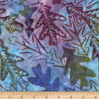 Timeless Treasures Tonga Batiks Gecko Oakleaf Mystical