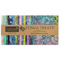 "Timeless Treasures Tonga Treats Batik 5"" Square Pack Gecko"