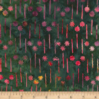 Timeless Treasures Tonga Batik Orchid Shooting Stars Spruce