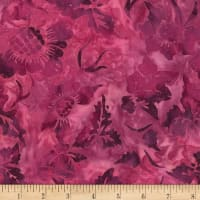 Timeless Treasures Tonga Batik Orchid Sunflower Passion