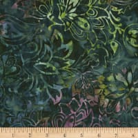 Timeless Treasures Tonga Batik Orchid Surf Malachite