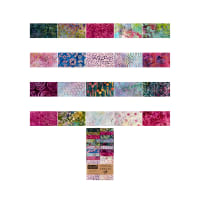 "Timeless Treasures Tonga Treats Batik 2.5"" Strip Pack Orchid"