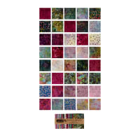 "Timeless Treasures Tonga Batik Treat Orchid 5"" Square Pack Orchid"