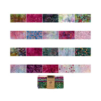 "Timeless Treasures Tonga Treats Batik 10"" Square Pack Orchid"