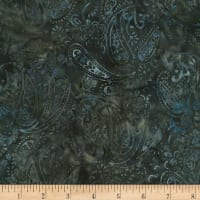 "Timeless Treasures 106""Batik Wide Back Garden Paisley Quarry"