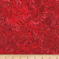 "Timeless Treasures 106""Batik Wide Back Nature Hike Red"