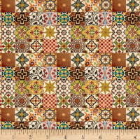 Stof France Le Quilt Orient Express Yellow