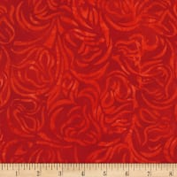 Timeless Treasures Tonga Batik Rio Cabbage Rose Red