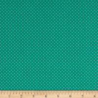 Stof France Le Quilt Printemps Polka Dot Green