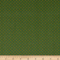 Stof France Le Quilt Petits Lapins Polka Dot Green