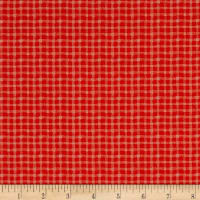 Stof France Le Quilt Safari Foto Plaid Orange