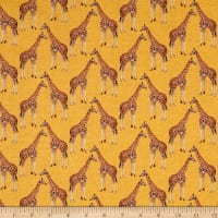 STOF France Le Quilt Safari Foto Giraffe Yellow