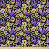 Jane Sassaman Folk Tales Mini Kerchief Purple