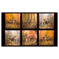 "Autumn Surprise 24"" Panel Black"