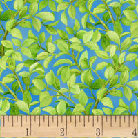 Freshwater Wildlife Leaves Allover Blue