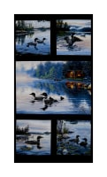 "Loons Lake Life Main 35"" Panel Black"