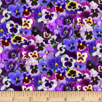 Lovely Pansies Purple