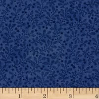 Impressions Sprig Royal Blue