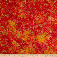 Fresh Batiks Botanica 4 Dark Orange