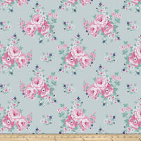 Gazebo Blue Sky Floral Mint