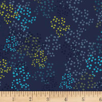 Spring Robins Dots Light Navy